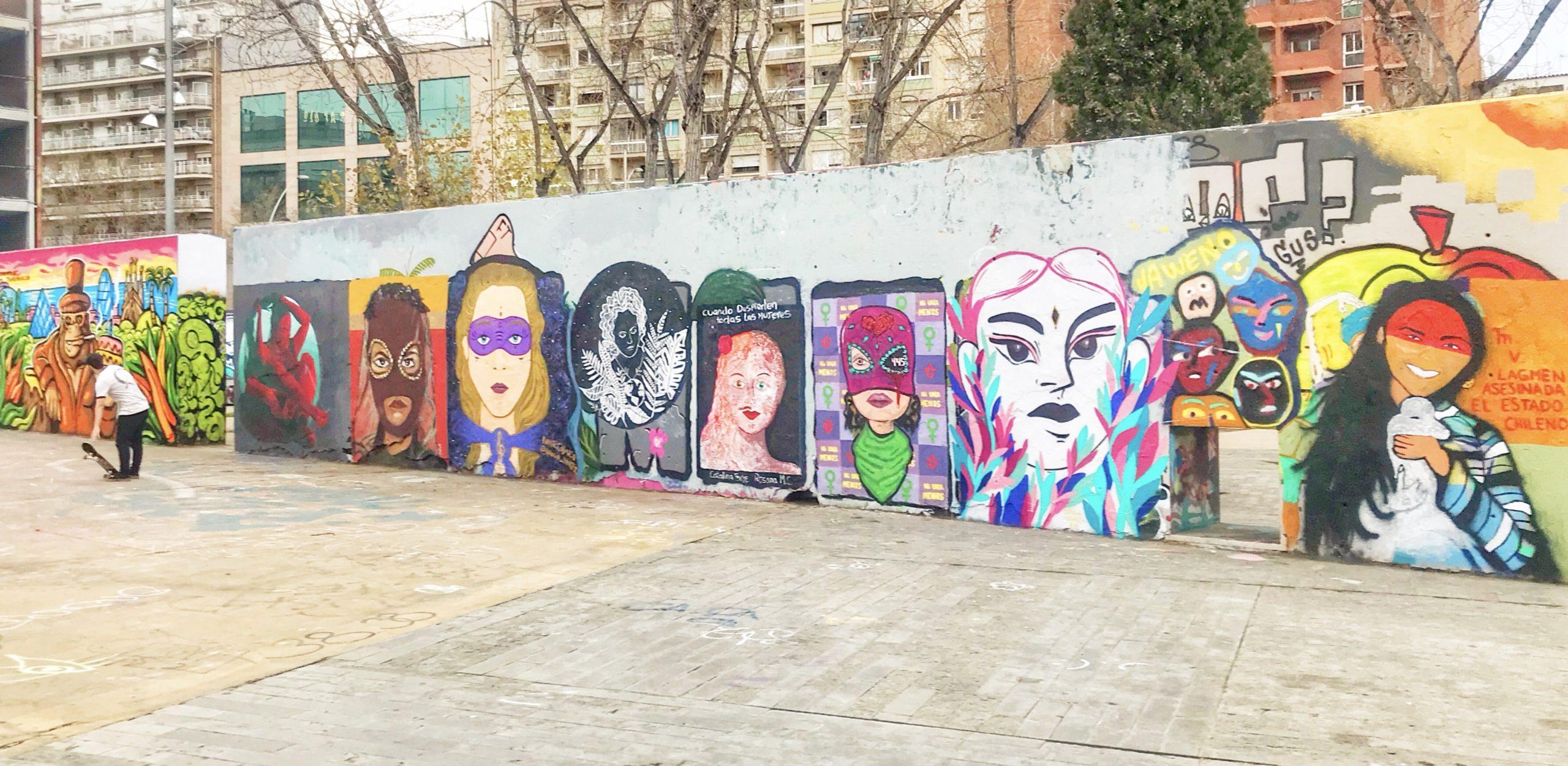 Graffiti femmes, 8 mars, Barcelone
